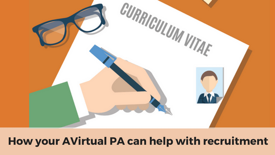 How your AVirtual PA can help with recruitment