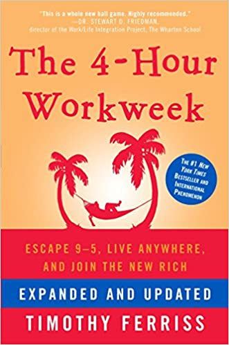 """Front cover of """"The 4-hour workweek"""" by Tim Ferriss"""