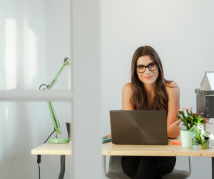 A female virtual assistant for bloggers