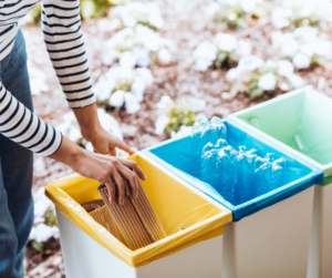A person recycling as a sustainable business idea